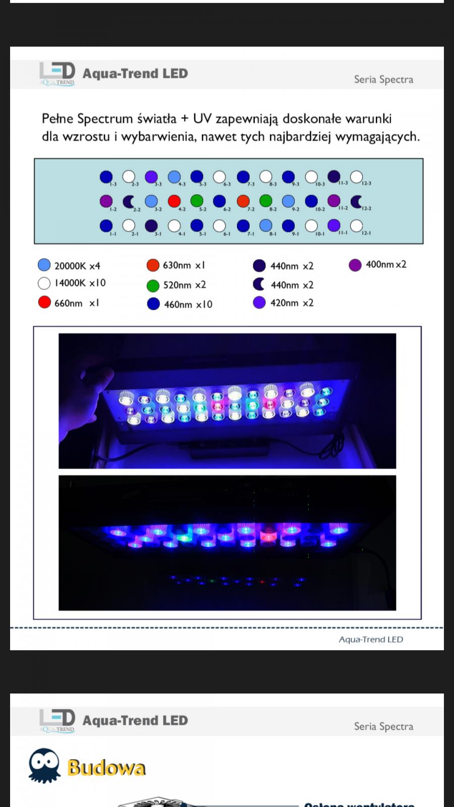 budowa lampy led stosunek diod nanoreef